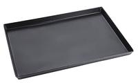 Rechteckiges Pizzablech aus Blaublech 500 x 350 x 30 mm LxBxH