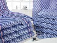 Grubentuch Halbleinen, blau-weiß kariert, 50 x 100 cm