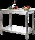 Edelstahl Arbeitstisch Profi 1800 x 700 mm - mit Grundboden und Aufkantung
