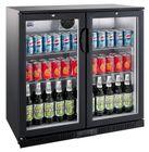 GGG Barkühlschrank ECO 208 Liter mit Klapptüren schwarz