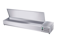Edelstahl-Kühlaufsatz ECO 5x GN 1/3 + 1x GN 1/2