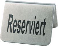 Chevalet de table «Reserviert», lot de 2, 5,5 x 5 cm chacun, hauteur : 3,5 cm