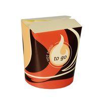 """50 boîtes à snack Papstar, """"To Go"""", carrées, 550 ml, 10 cm x 8,5 cm x 7,5 cm"""