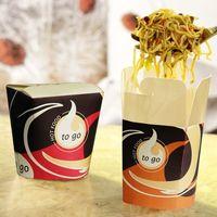 """50 boîtes à snack Papstar, """"To Go"""", carrées, 750 ml, 10,1 cm x 10 cm x 9,1 cm"""