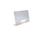 Spuckschutz aus Acryl 75 x 18 cm, H:48 cm, Öffnung: 25 x 12 cm