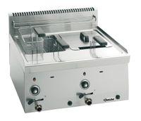 Bartscher Gas-Fritteuse 600 Imbiss 2 x 8L - Tischgerät