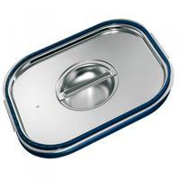 Blanco Edelstahl GN-Deckel GN  1/6 mit Formschlussdichtung für Gastronorm-Behälter mit Bügelgriffen