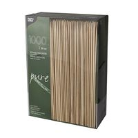 """Papstar 1000 Schaschlikspieße, Bambus """"pure"""" Ø 3 mm x H: 20 cm"""