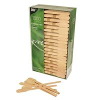 1000 agitateurs Papstar, bois « pure » 13 cm