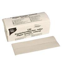 Papstar 120 Blatt Handtuchpapier 50 cm x 25 cm natur C-Falz, 1-lagig