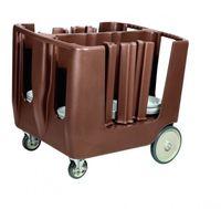 Tellerwagen Abräumwagen für 240 Teller PE braun