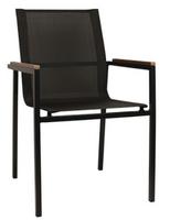Chaise avec accoudoirs Eero noire, 4 pces