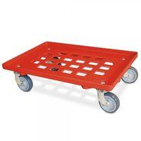 Chariot de transport, surface de recouvrement grillagée rouge