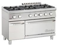 Cuisinière à gaz 700 Classic à 6 foyers avec four à gaz et armoire neutre