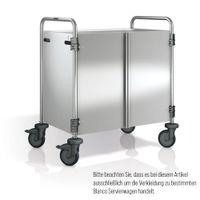 Blanco Servierwagenverkleidung Edelstahl 3-seitig mit frontseitigen Flügeltüren für SW 10x6