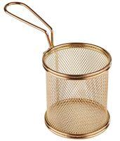 APS Servier-Frittierkorb, gold Ø 9 cm, H: 8,5 cm, Griff 9 cm