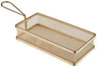 APS Servier-Frittierkorb, gold 21,5 x 10,5 cm, H: 4,5 cm