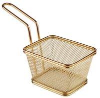 APS Servier-Frittierkorb, gold 10 x 8,5 cm, H: 6,5 cm