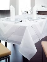 Linge de table Madeira, 100% coton,bordure satinée 4 côtés, 130 x 280 cm