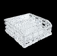 Miele Gläserkorb U423 400x400 mit 3 Reihen