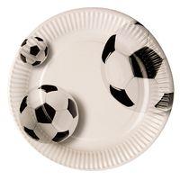 "Papstar Pappteller, rund, Ø23 cm, beschichtet, ""Fußball"" - 10 Stück"