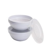 APS Mehrweg Frischhalteschalen WHITE Set - 0,5 Liter