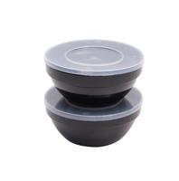 APS Mehrweg Frischhalteschalen BLACK Set - 0,5 Liter