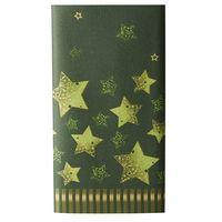 """Papstar Tischdecke """"Star Shine"""", 120 x 180 cm, grün mit goldenen Sternen"""