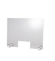 Paroi de protection hygiénique APS ROUND WHITE avec ouverture 750 x 570