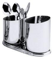 Löffelbecher-Flöte mit zwei Bechern, Edelstahl