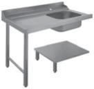 Table d'approvisionnement Dexion, un bassin, rallonge à gauche, 1500 x 720 x 850 mm