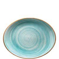 Bonna Premium Porcelain Aura Aqua Moove Platte oval 31 x 24 cm, hellblau