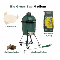 Big Green Egg Grill Medium EGG Komplett Paket