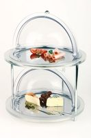 APS Buffet-Vitrine -Top Fresh Doppeldecker- Ø 43,5 cm, Höhe 33 cm