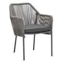 Chaise de terrasse Baleric grise – 4 pièces