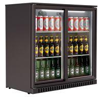 Barkühlschrank ECO 208 mit Schiebetüren schwarz