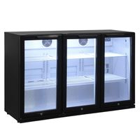 Barkühlschrank ECO 320 Liter mit Klapptüren schwarz