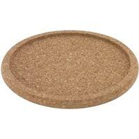 Dessous de plat en liège avec bord, diamètre intérieur 19cm, hauteur 1,5cm