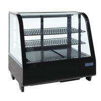 Kuchenvitrine Mini Polar 100 - schwarz  - B-Ware 01