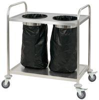 CASSELIN - Chariot en inox porte poubelle