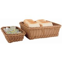 Corbeille à pain en polypropylène GN1/2 - brun foncé