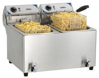 CASSELIN - Friteuse électrique avec vanne de vidange 2 x 10 litres