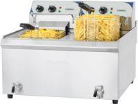 CASSELIN - Friteuse électrique avec vanne de vidange 2 x 10 litres haut rendement