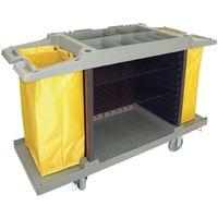 Jantex Zimmerservicewagen mit 2 Wäschesäcken, 2x77l
