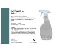 Edelstahlpflege Profi 5 Liter Kanister inkl. Abfüllhahn und 500 ml Leerflasche