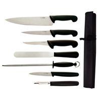Set de couteaux Hygiplas (couteau de chef de 20 cm) - 7 pièces