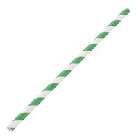 Pailles en papier Fiesta Green 210mm - blanc vert