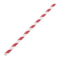 Pailles en papier Fiesta Green - blanc rouge