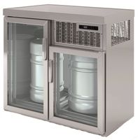 Coreco Fasskühler Premium  2 x 50 Liter mit Glastüren