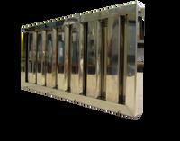 Flammschutzfilter Eco Bauart B, 400x400x20 mm mit Griff